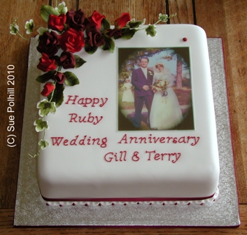 Anniversary Cakes From Sue Polhill Wedding And Celebration Cakes Of