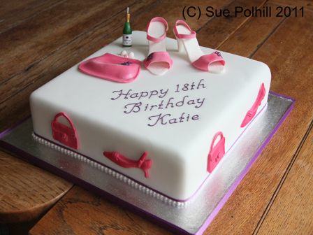 Birthday Cake With Shoes From Sue Polhill Cakes Of Cambridgeshire